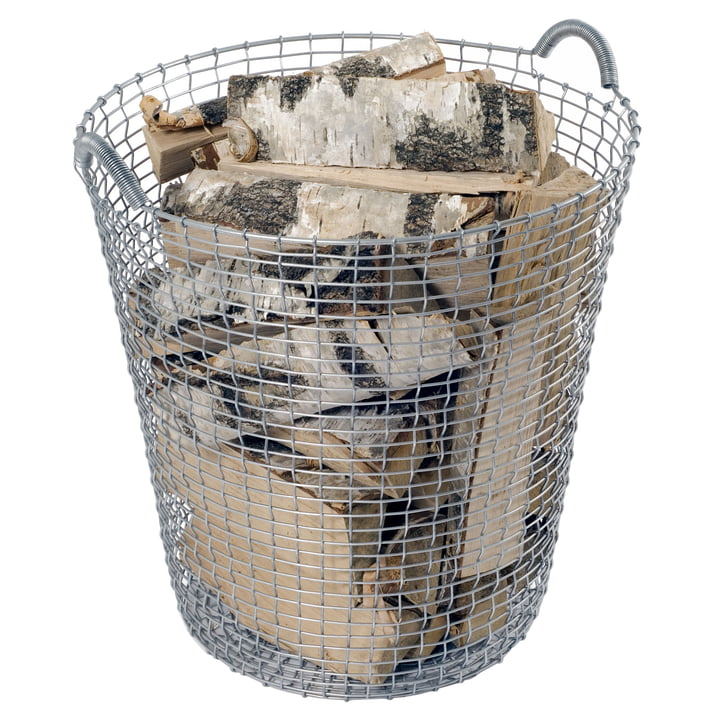 Classic 80 Wire Basket by Korbo with an inner cover laundry bag
