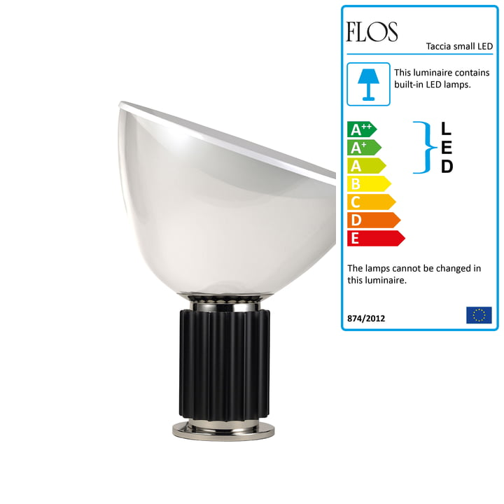 The Taccia Small LED Table Lamp by Flos in Black