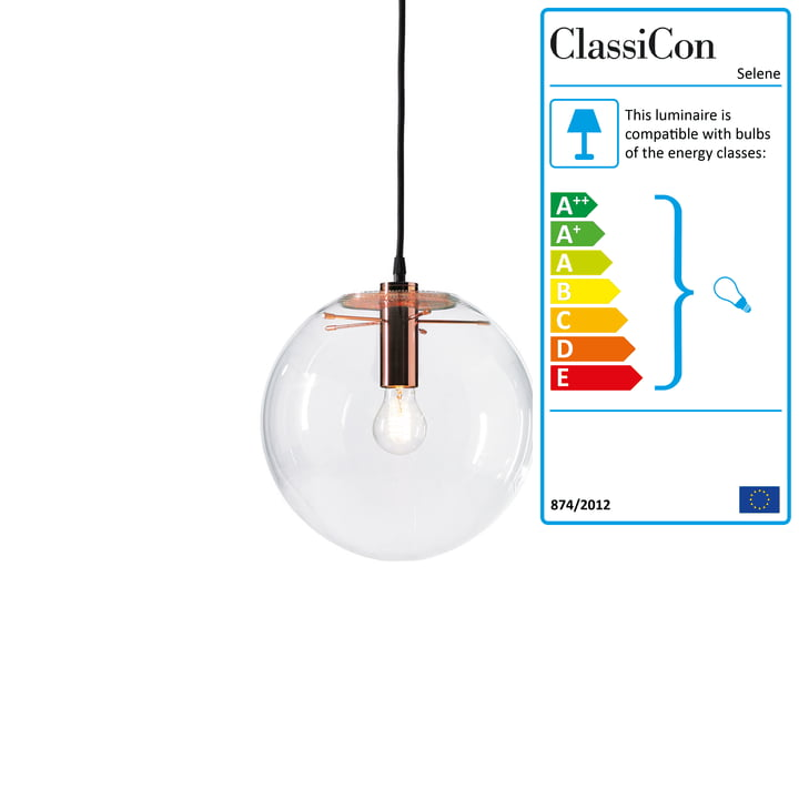 ClassiCon - Selene Pendant Light, copper Ø 25cm