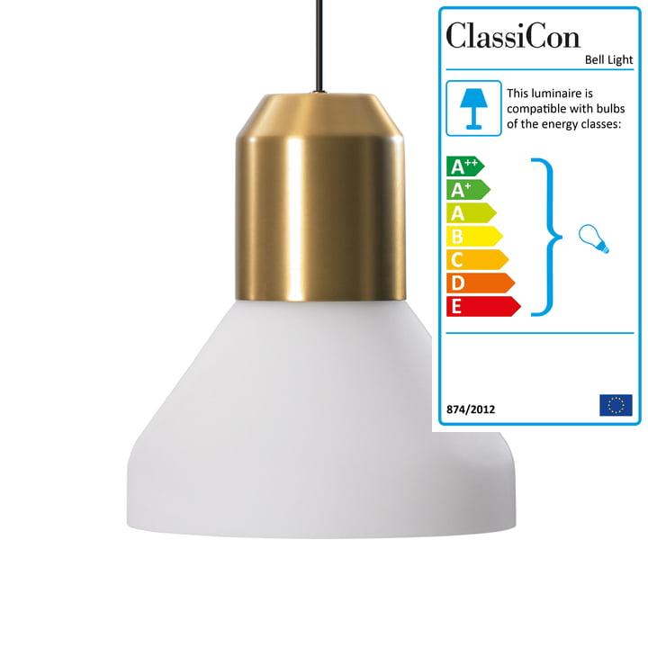 ClassiCon - Bell Light pendant light, brass / opal glass