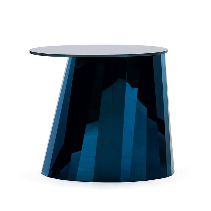 ClassiCon - Pli Side Table, sapphire blue shiny