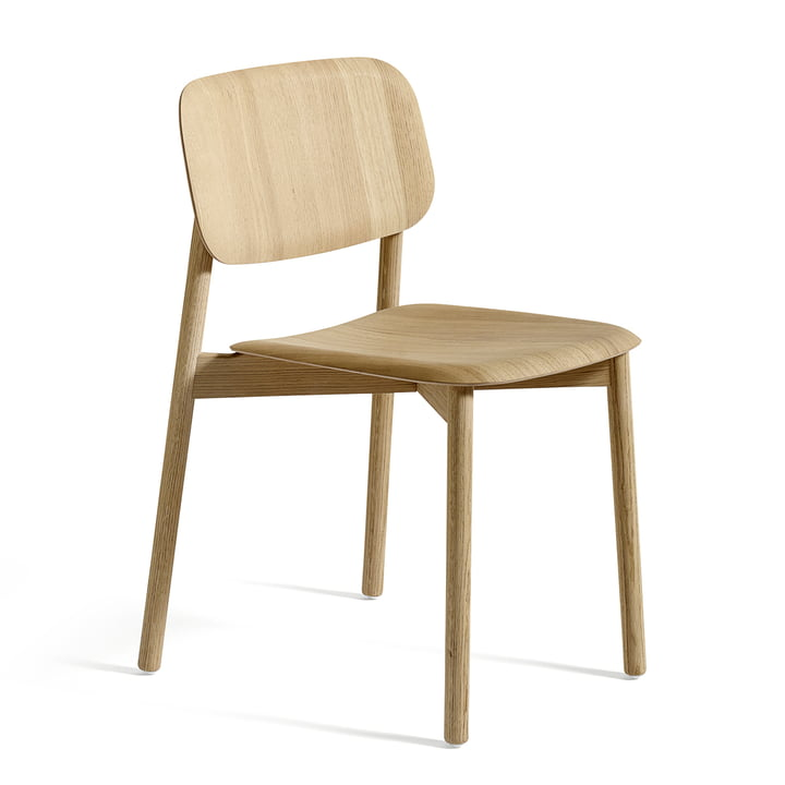 The Hay - Soft Edge chair in matt lacquered oak