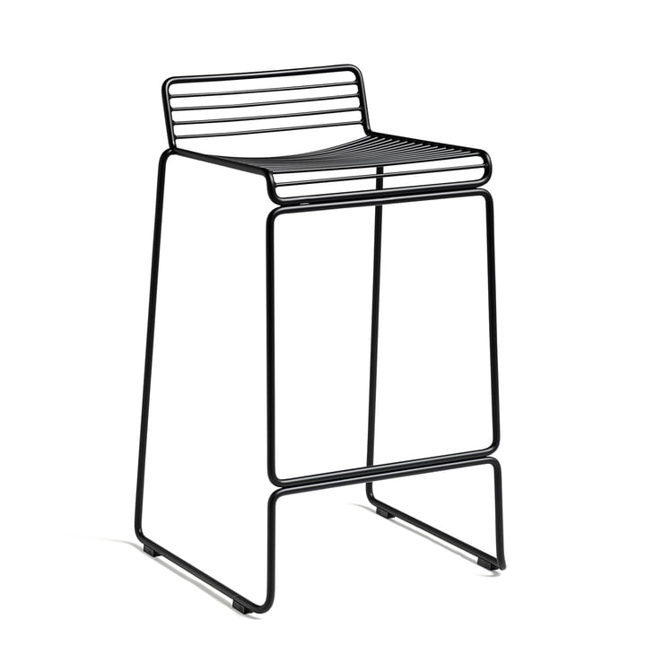 The Hay Hee Bar stool in black with a seat height of 65cm