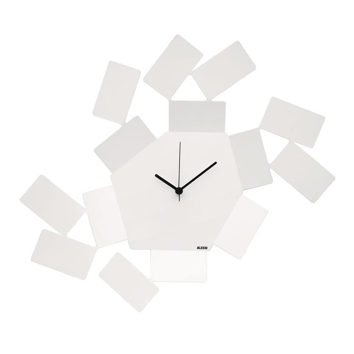 La Stanza Dello Scirocco wall clock by Alessi in white