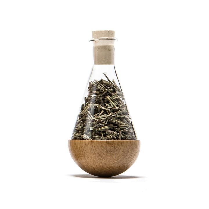 urbanature - stand-up herbs bottle, oak wood