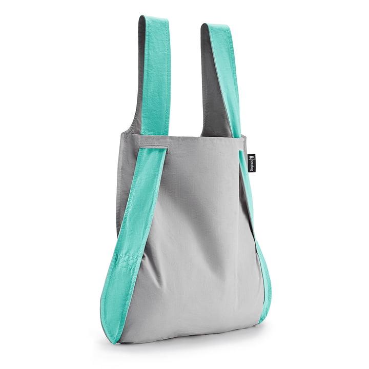 Notabag - Bag and Backpack, mint / grey