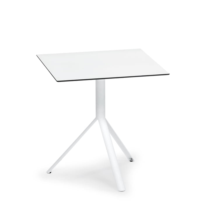 Square Trio Bistro Table 70 x 70 cm by Weishäupl in white