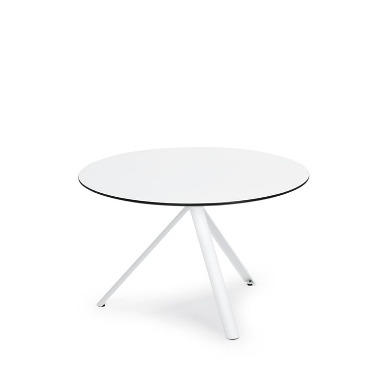 Round Trio Bistro Table Ø 70cm by Weishäupl in white