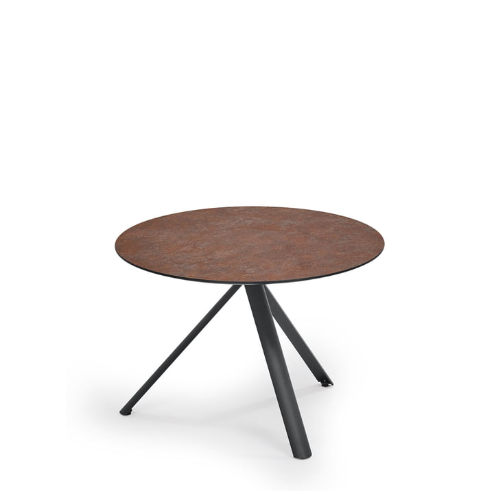 Trio Bistro Table by Weishäupl with rusty table top