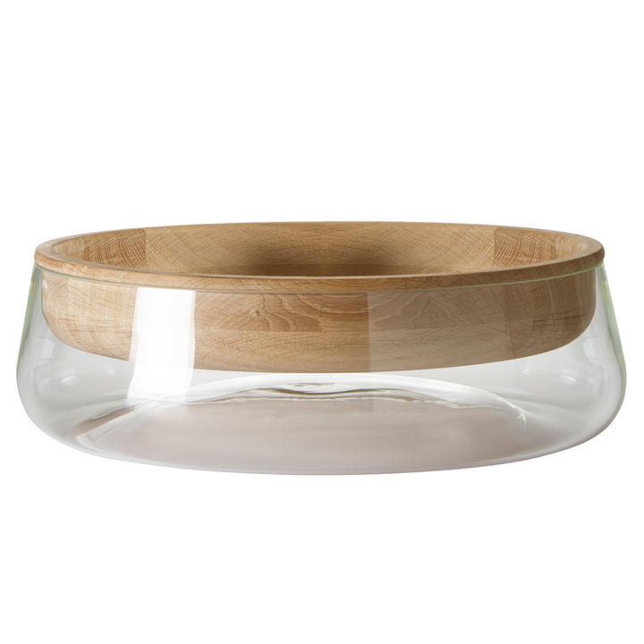 Peruse - Double Bowl, large, oak oiled / glass clear