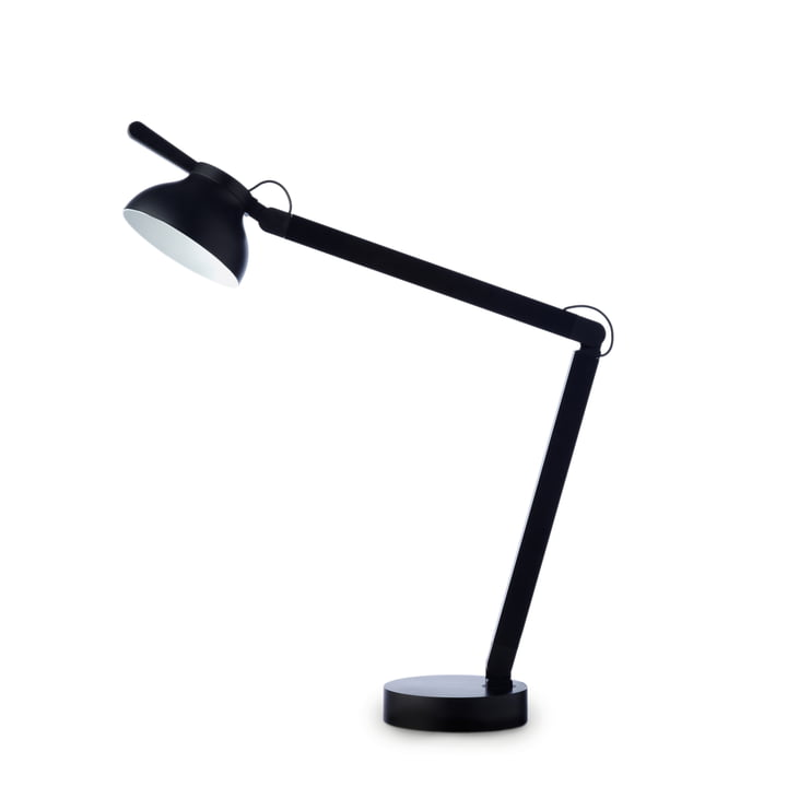 PC Double Arm LED table lamp from Hay in often black