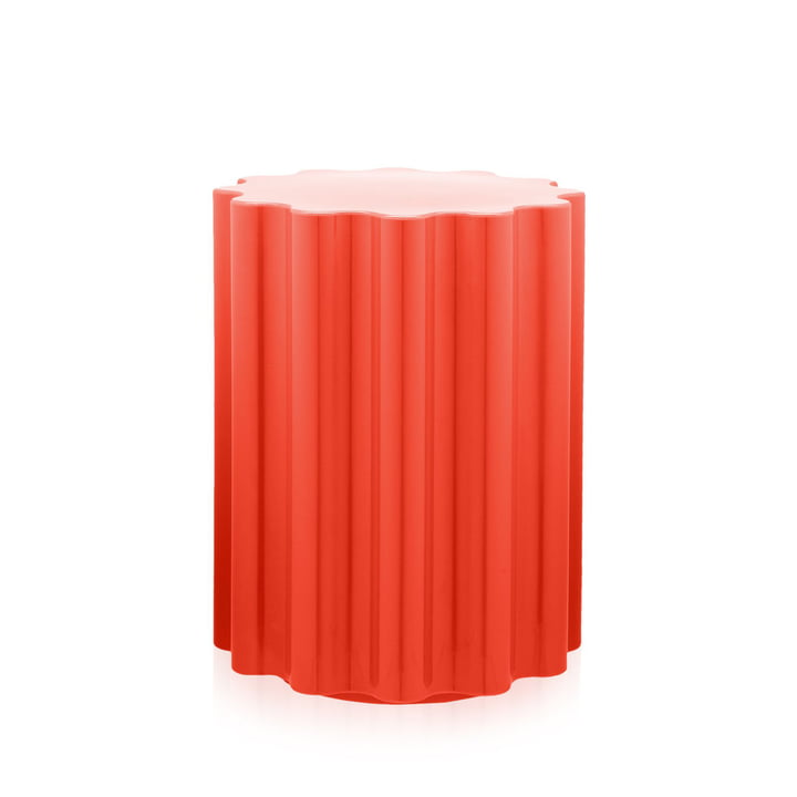 Colonna Stool / Side Table by Kartell in Red