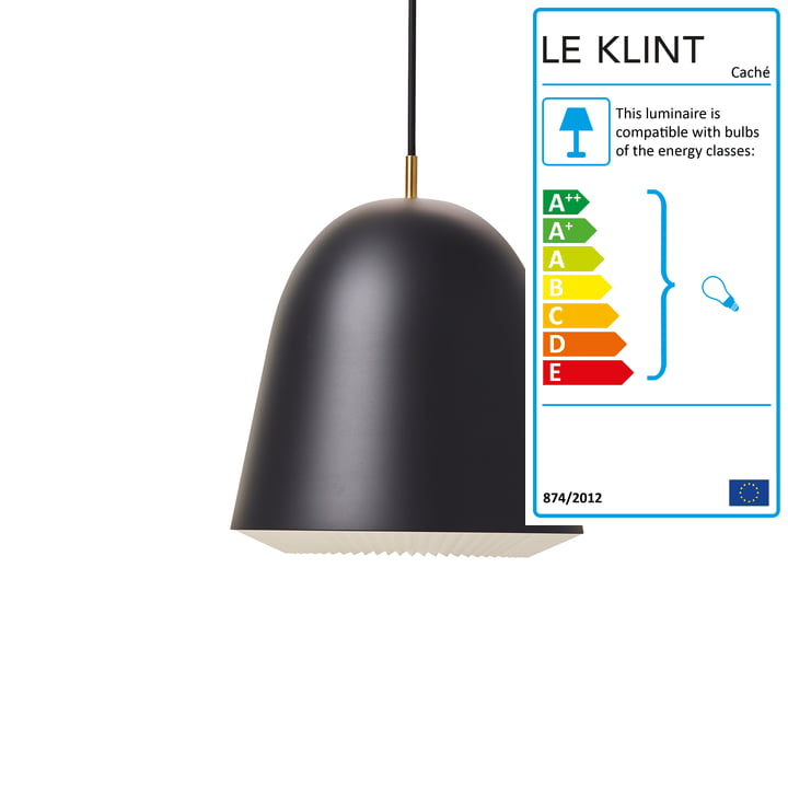 Caché Pendant lamp M in black from Le Klint
