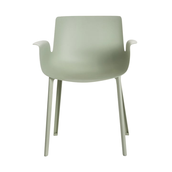 Piuma Chair by Kartell in sage green