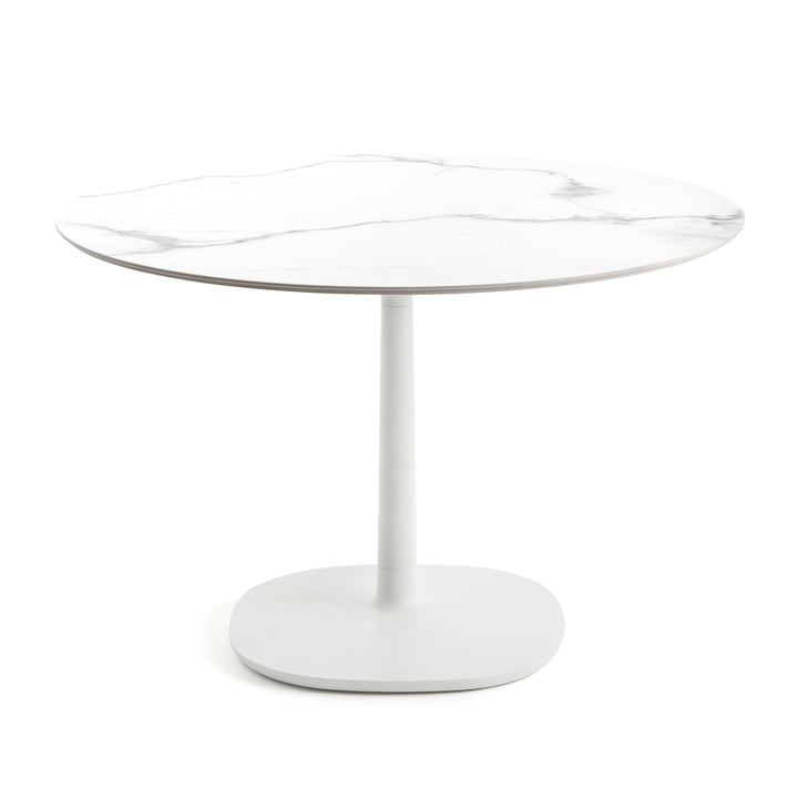 Round Multiplo Bistro Table Ø 118 cm by Kartell in white