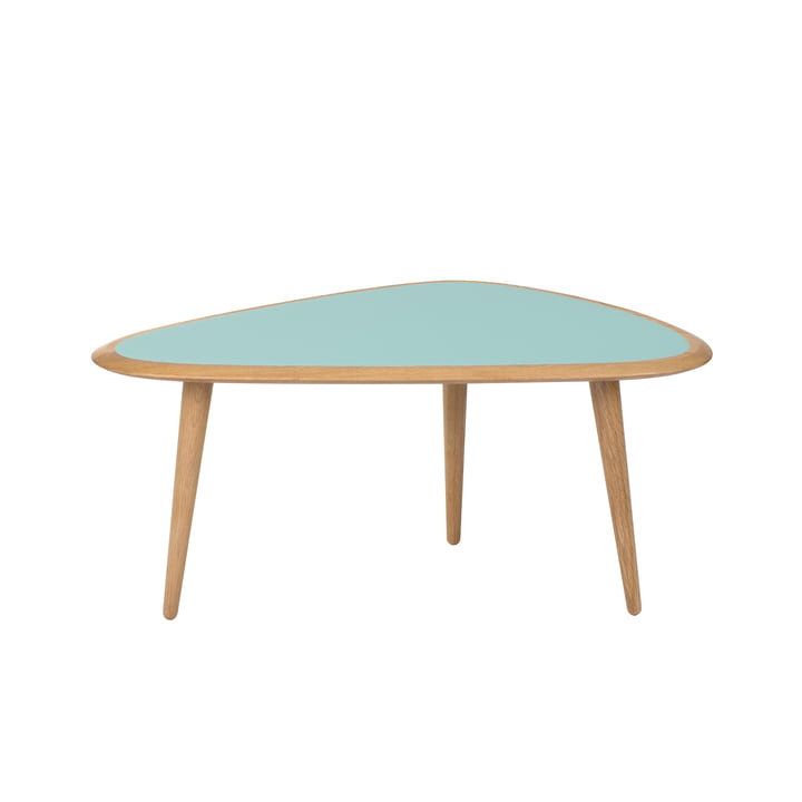 Fifties Side Table by red edition in mineral green (L09)