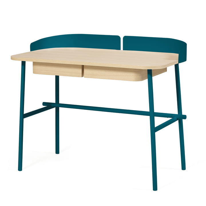 Victor Desk by Hartô in petrol (RAL 5020)