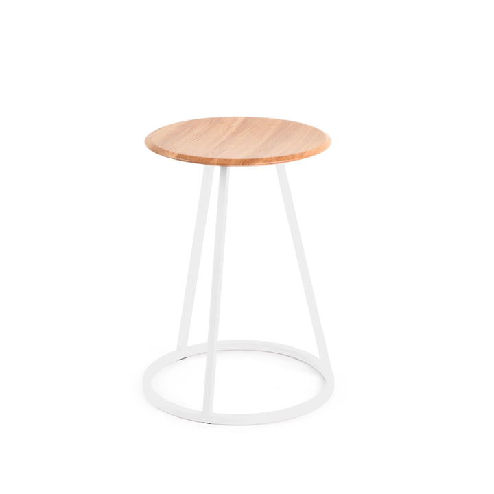 Petit Gustave Stool by Hartô in white