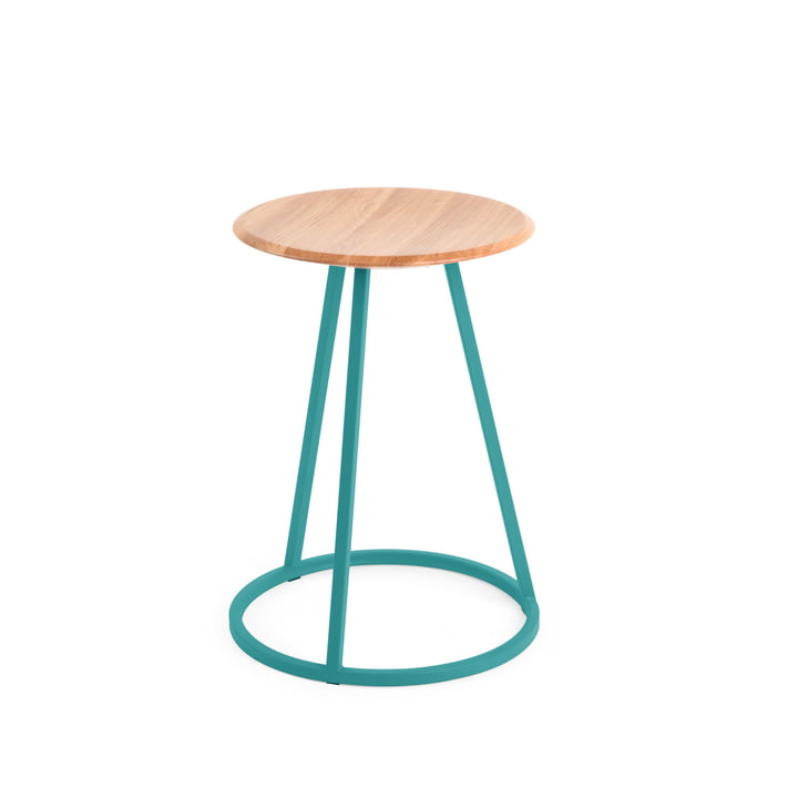 Petit Gustave Stool by Hartô in water blue