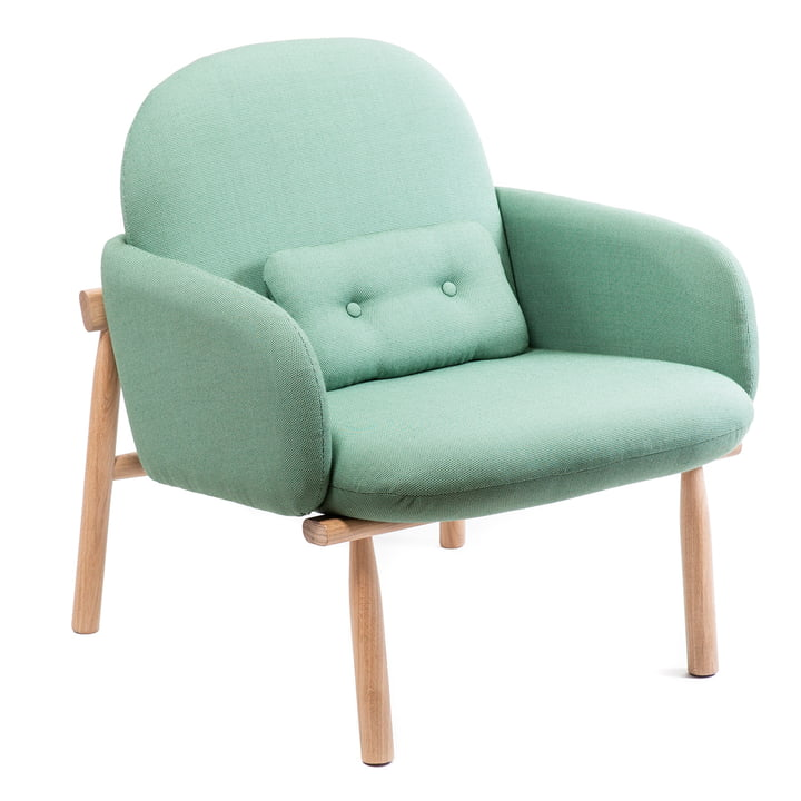 Georges armchair by Hartô in water green (swing 53019)