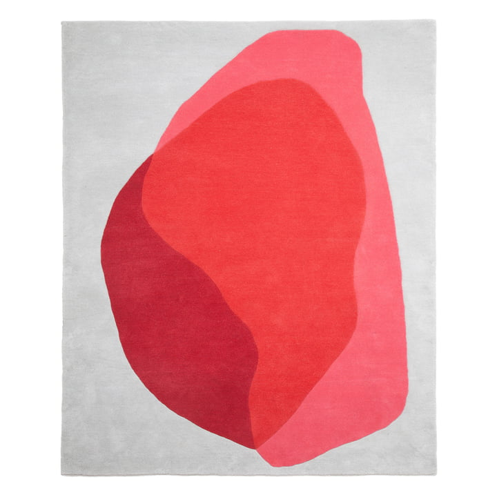 Jane Rug by Hartô in red and pink cameo
