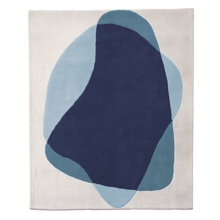 Serge Rug by Hartô in blue / grey