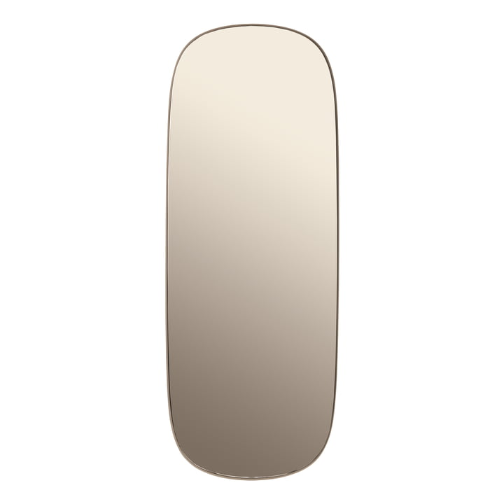 Muuto - Framed mirror, large, taupe / taupe glass
