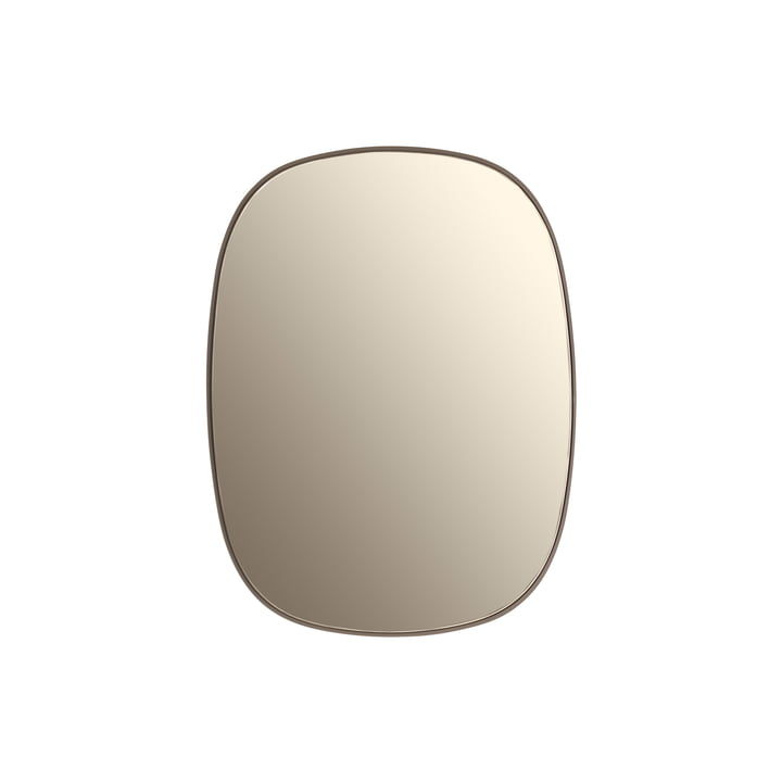 Muuto - Framed mirror, small, taupe / taupe glass