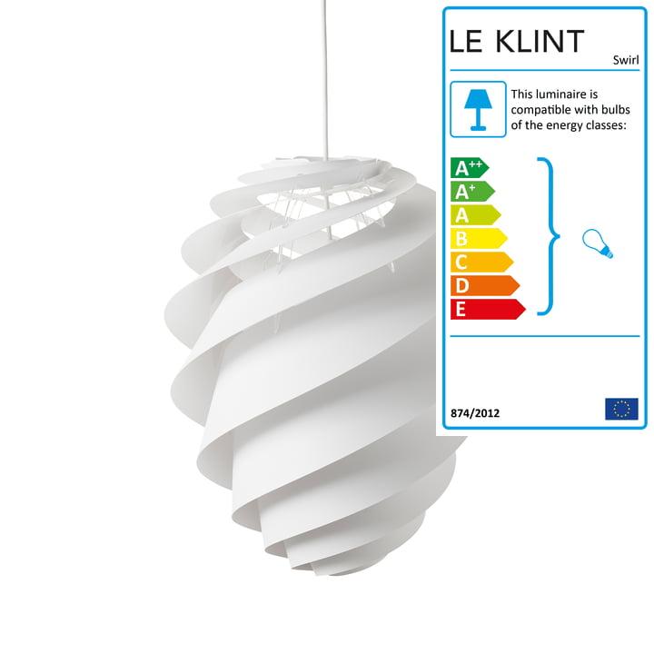 Swirl 2 Pendant Lamp Ø 36cm by Le Klint in White