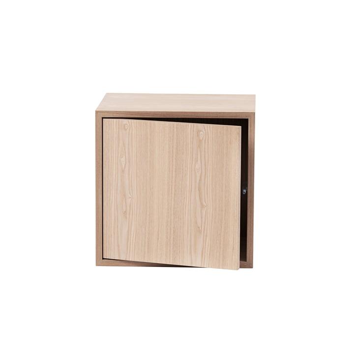 The Stacked shelf module with door by Muuto in medium, ash