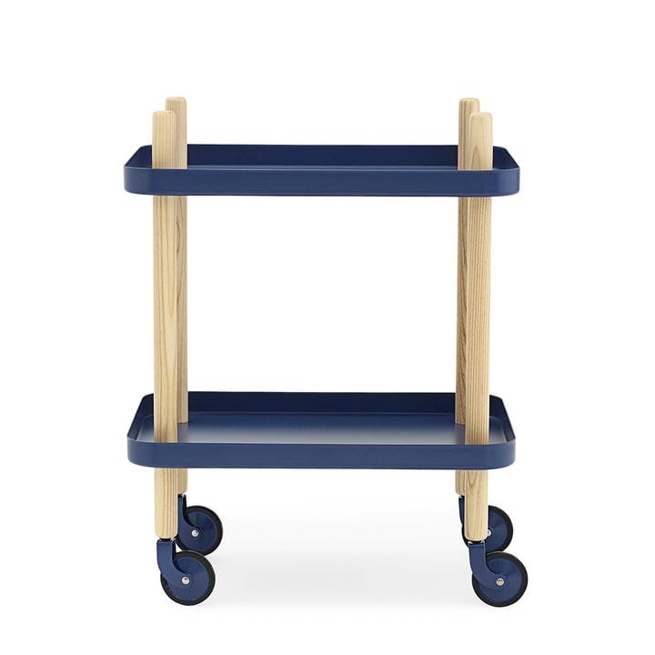 Normann Copenhagen - Block Mobile Table Trolley, dark blue