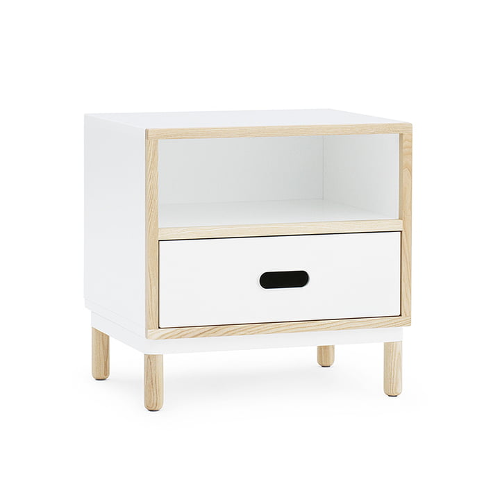 Kabino Bedside Table by Normann Copenhagen in white