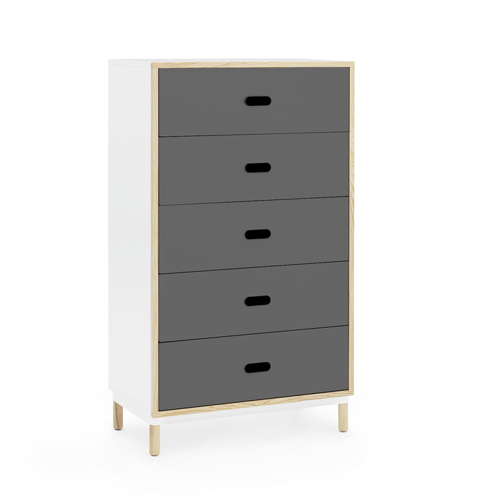 Kabino Sideboard with 5 drawers by Normann Copenhagen in grey