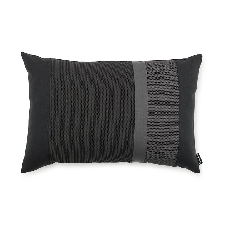Line Cushion by Normann Copenhagen in the size 40 x 60 cm in the colour dark grey