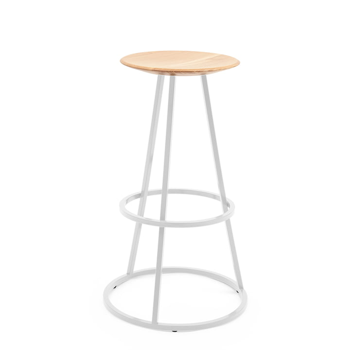Grand Gustave Stool by Hartô in light grey