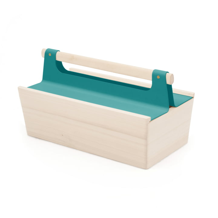 Louisette Toolbox by Hartô in water blue (RAL 5021)