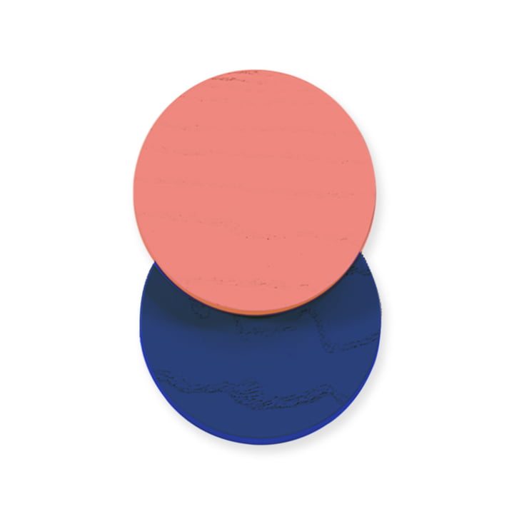 Lou Wall Hook by Hartô in coral / blue