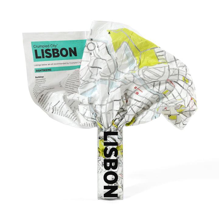 Palomar - Crumpled City Map - Lisbon