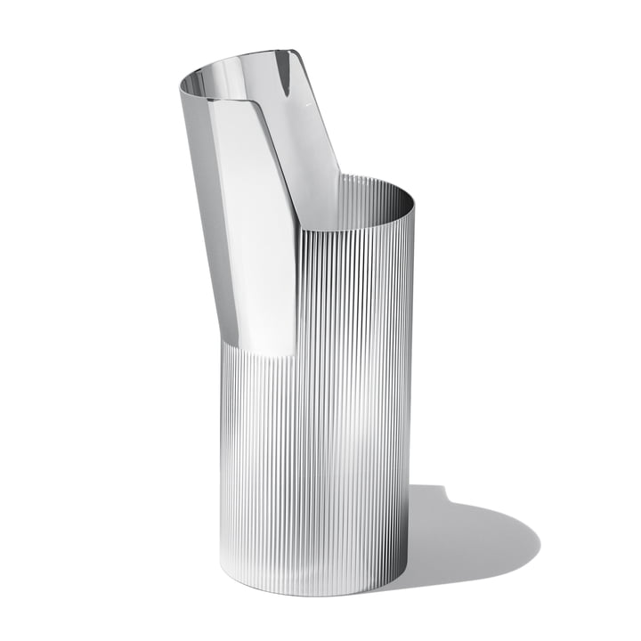 Georg Jensen - Urkiola Vase, Stainless Steel, high