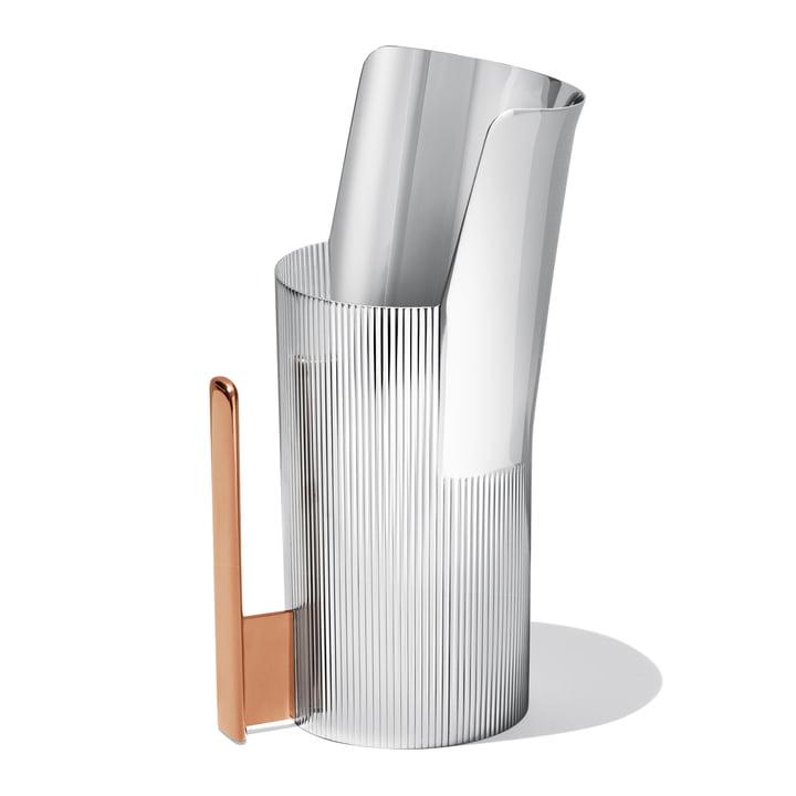Georg Jensen - Urkiola Jug, stainless steel / PVD, 1.7 litres