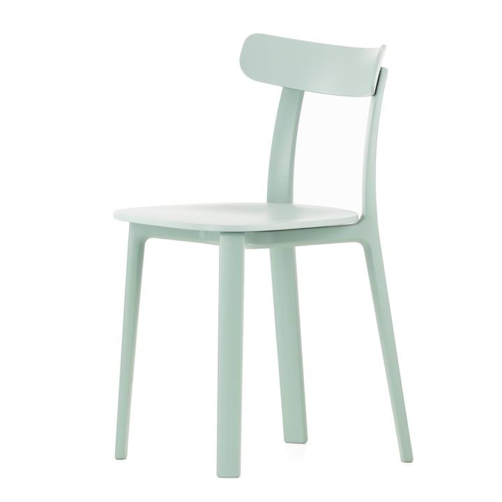 Vitra - All Plastic Chair, ice grey, felt glides for hard floors