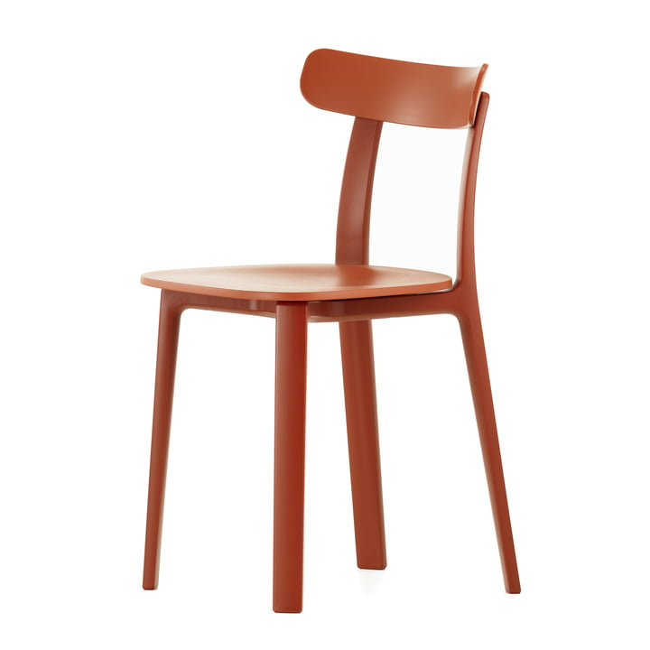The All Plastic Chair in red from Vitra