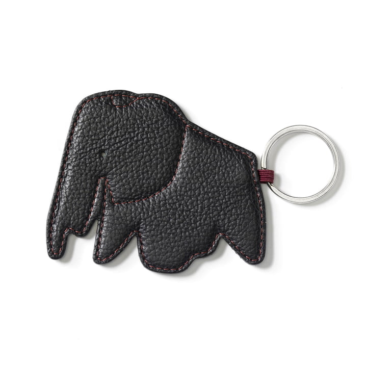 Key ring elephant by Vitra in Nero
