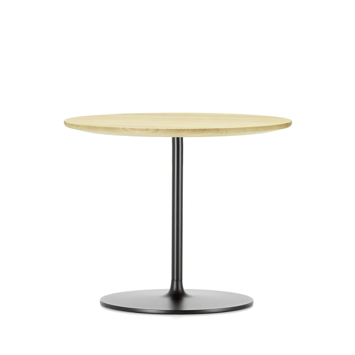 Occasional Low Table 35 by Vitra made of natural oak and metal in chocolate