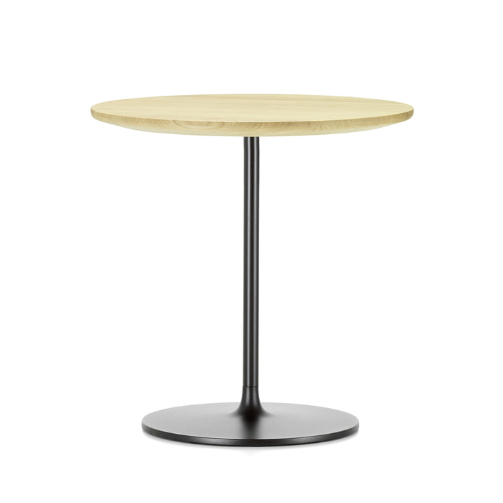Occasional Low Table 55 by Vitra made of natural oak and metal in chocolate