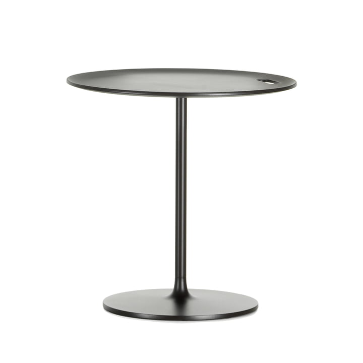 Occasional Low Table 55 by Vitra made of aluminium and metal in chocolate