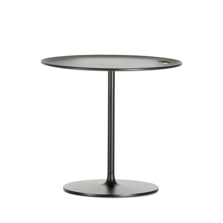 Occasional Low Table 45 by Vitra made of aluminium and metal in chocolate