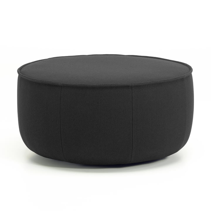 Large Mariposa Ottoman from Vitra in anthracite (Laser 03)