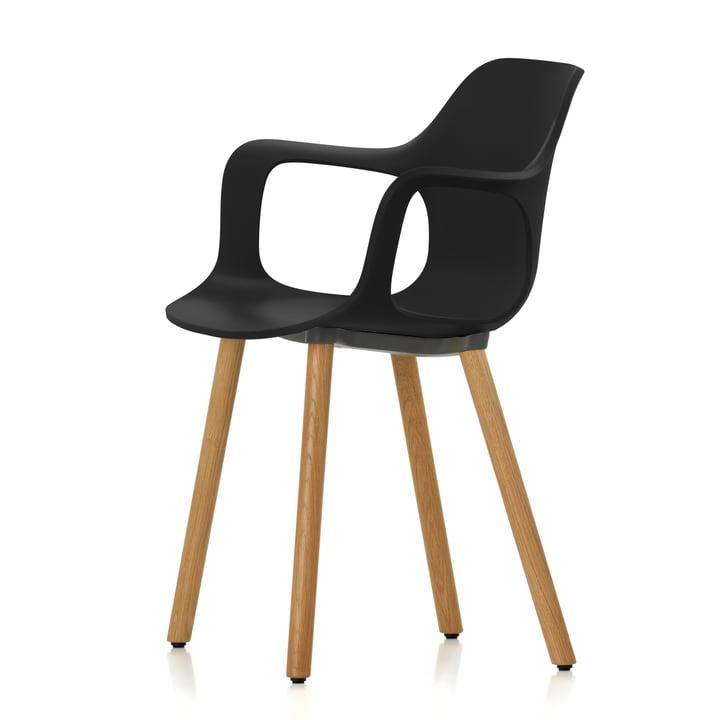 Vitra - Hal Wood Armchair, basic dark / oak natural