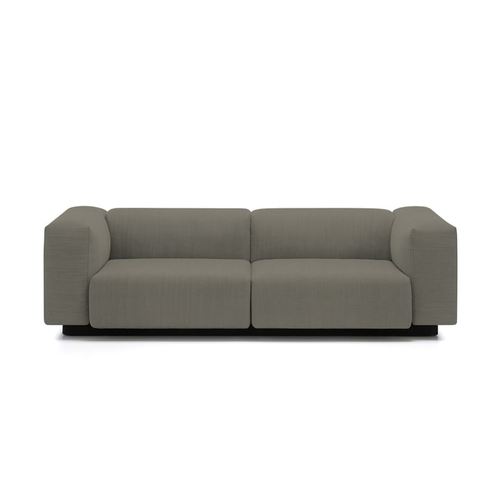 Soft Modular 2-seater sofa from Vitra in warm grey (Laser 05)